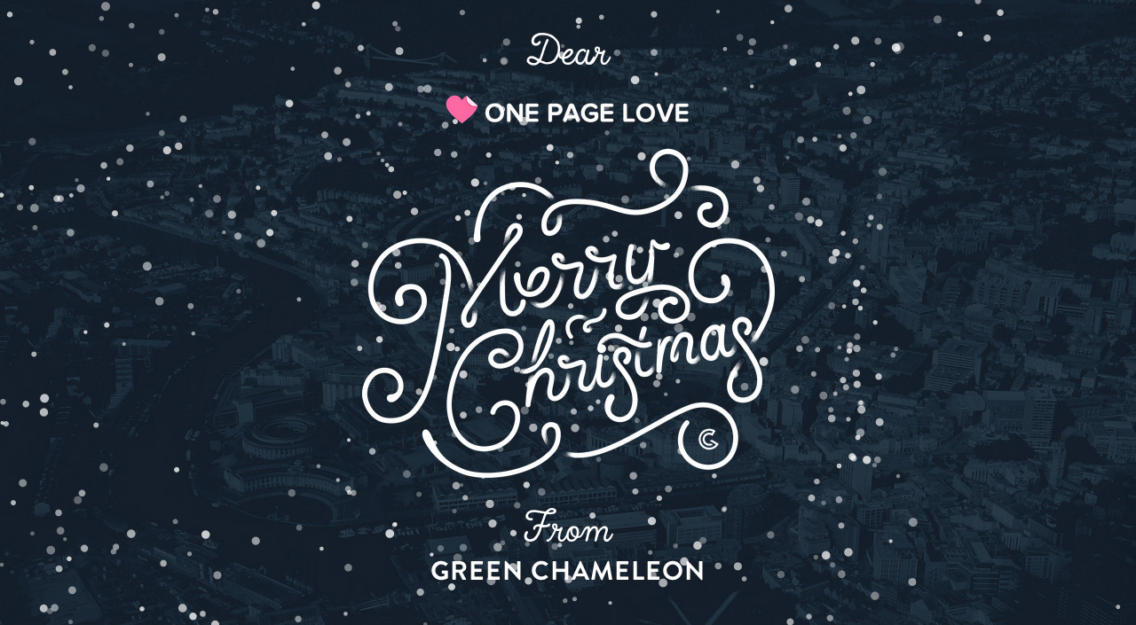 Merry Christmas from Green Chameleon Website Screenshot