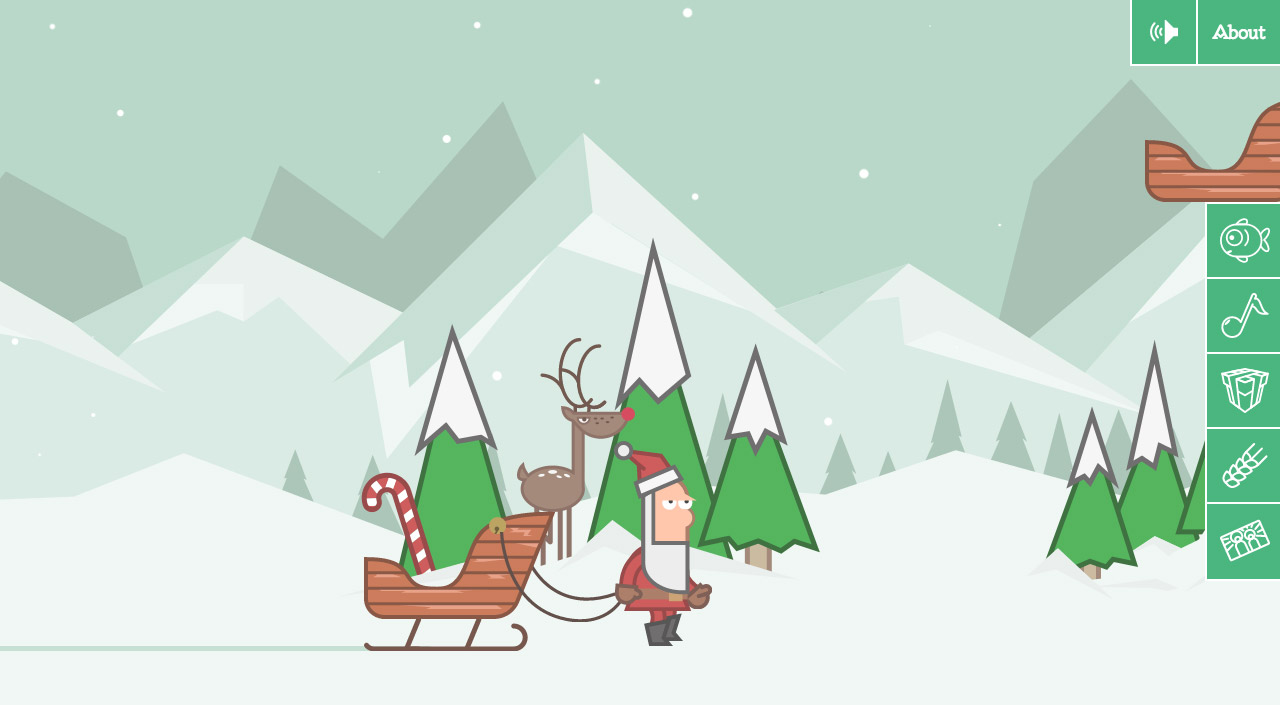 Polish Christmas interactive guide Website Screenshot