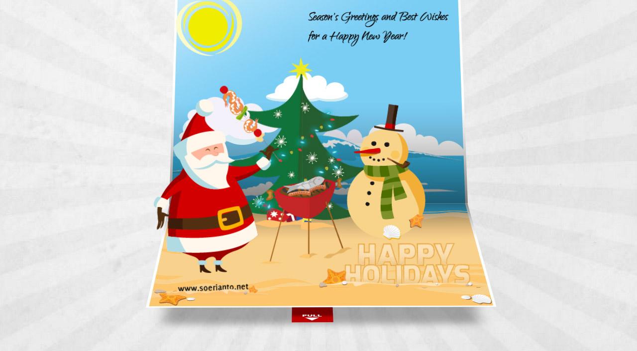 3D Christmas Pop Up Card Website Screenshot
