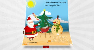 3D Christmas Pop Up Card Thumbnail Preview
