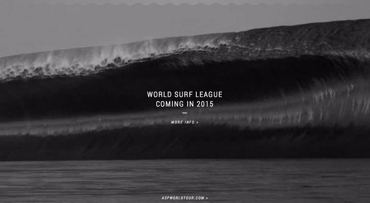 World Surf League Website Screenshot