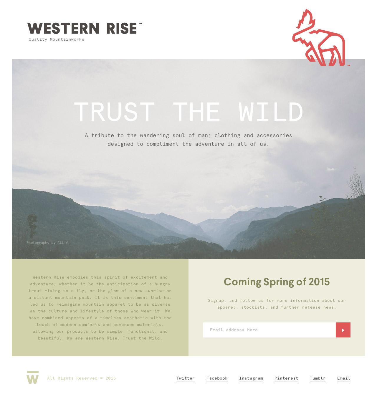 Western Rise Website Screenshot