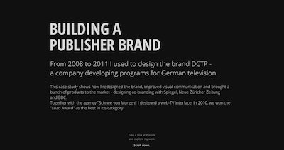 Building a Publisher Brand Thumbnail Preview