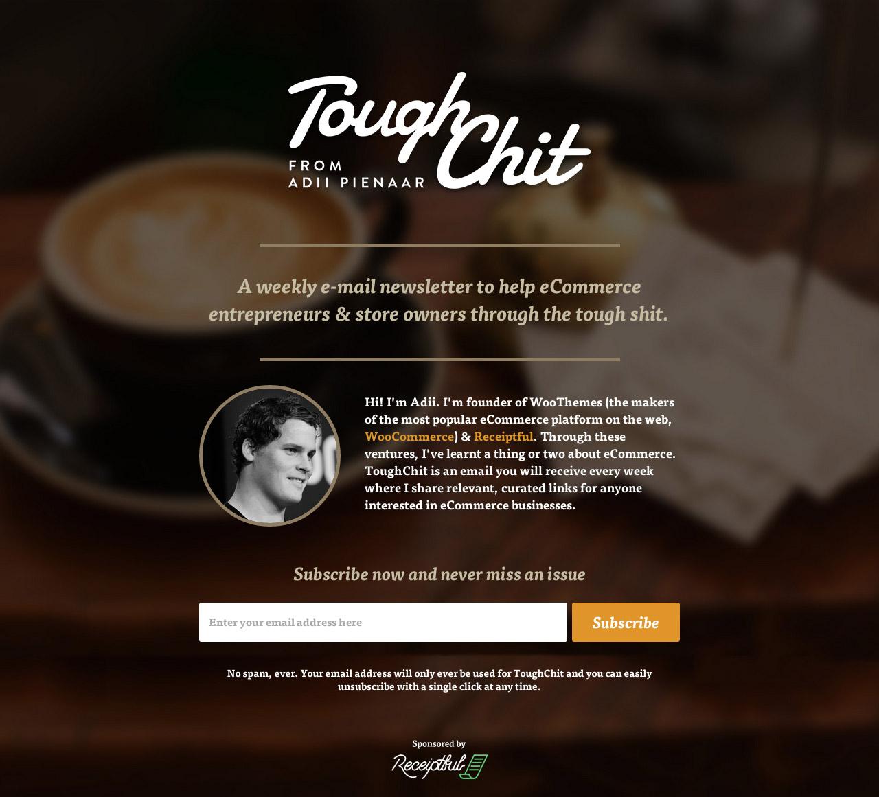 ToughChit Website Screenshot