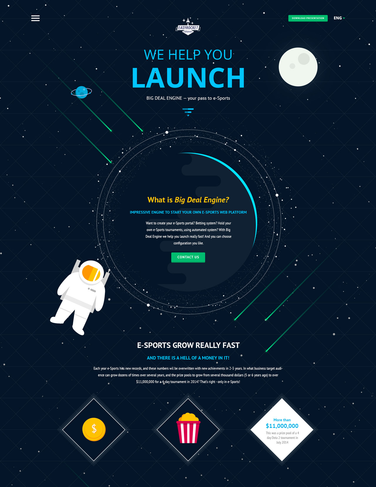 Easy Rocket Studio Website Screenshot