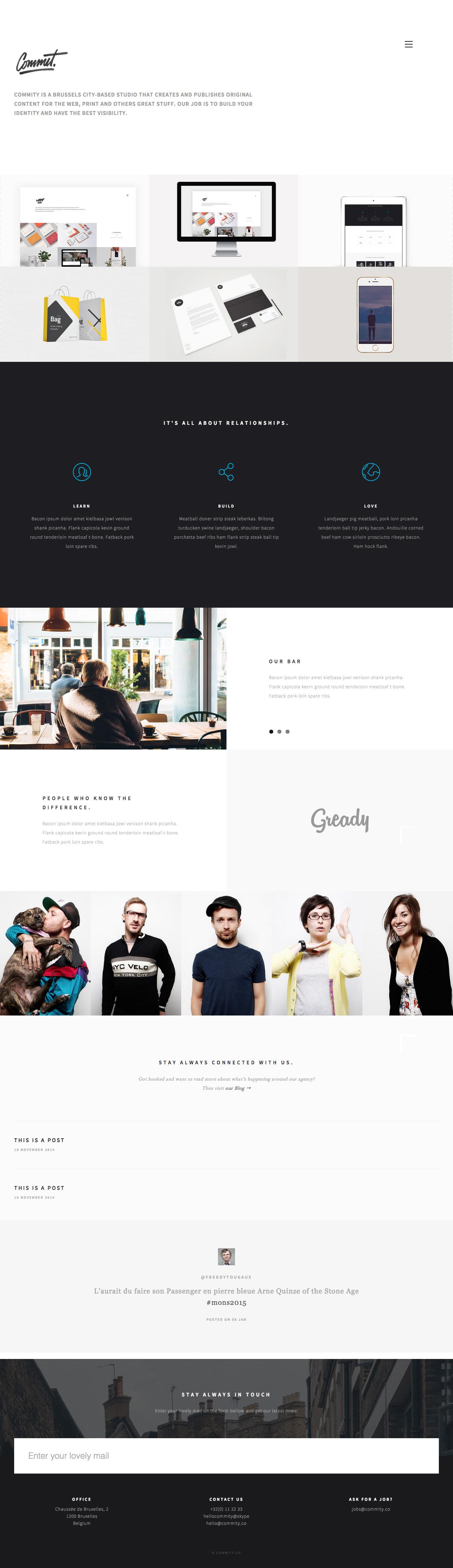 Commity Website Screenshot