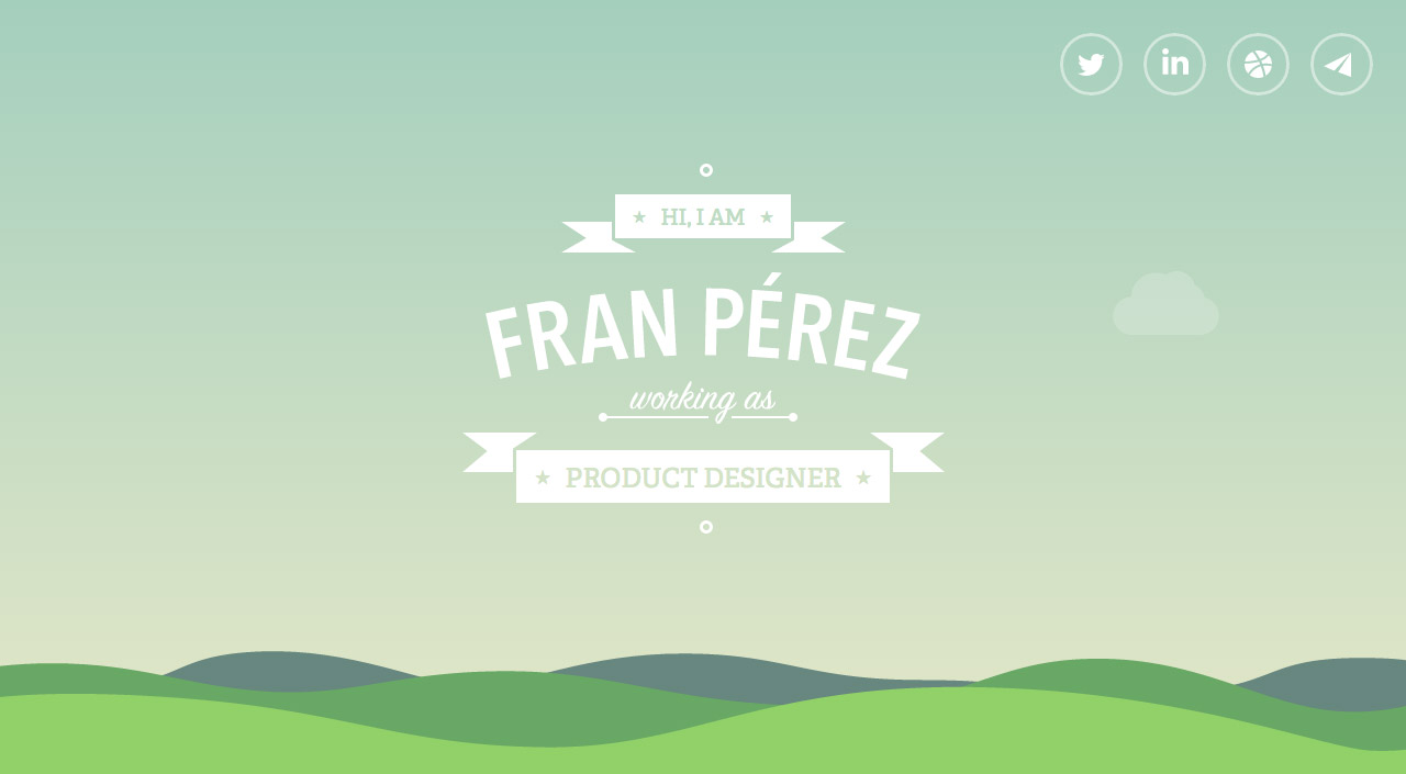 Fran Pérez Website Screenshot