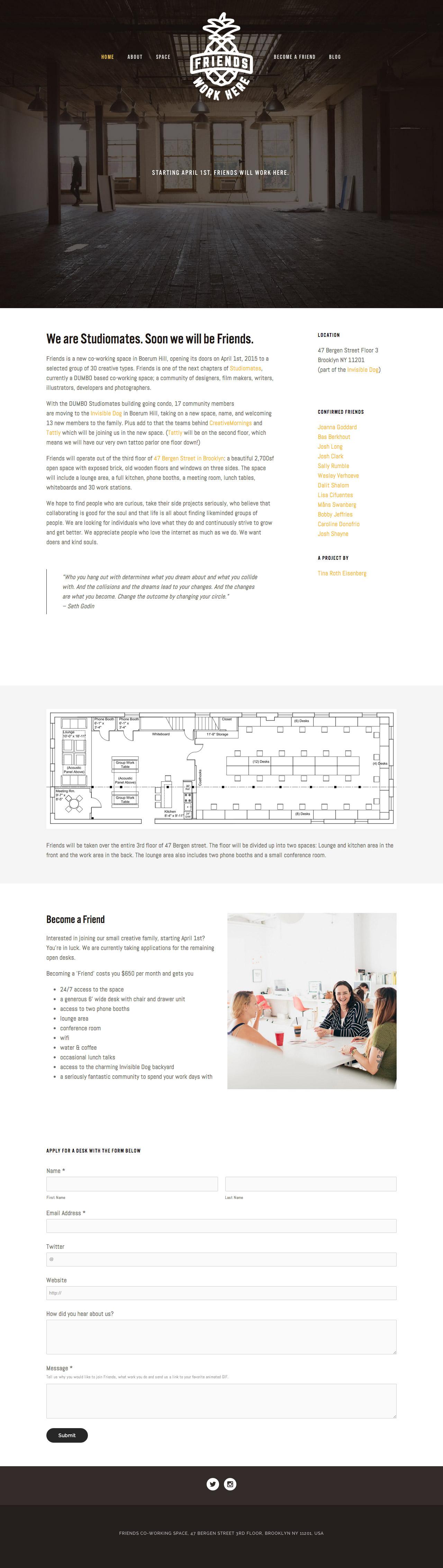 Friends Website Screenshot