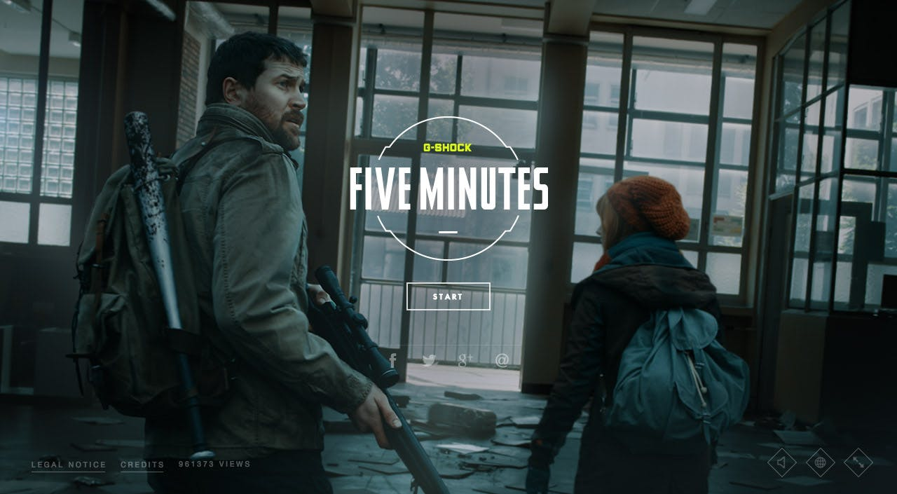 Five Minutes Website Screenshot