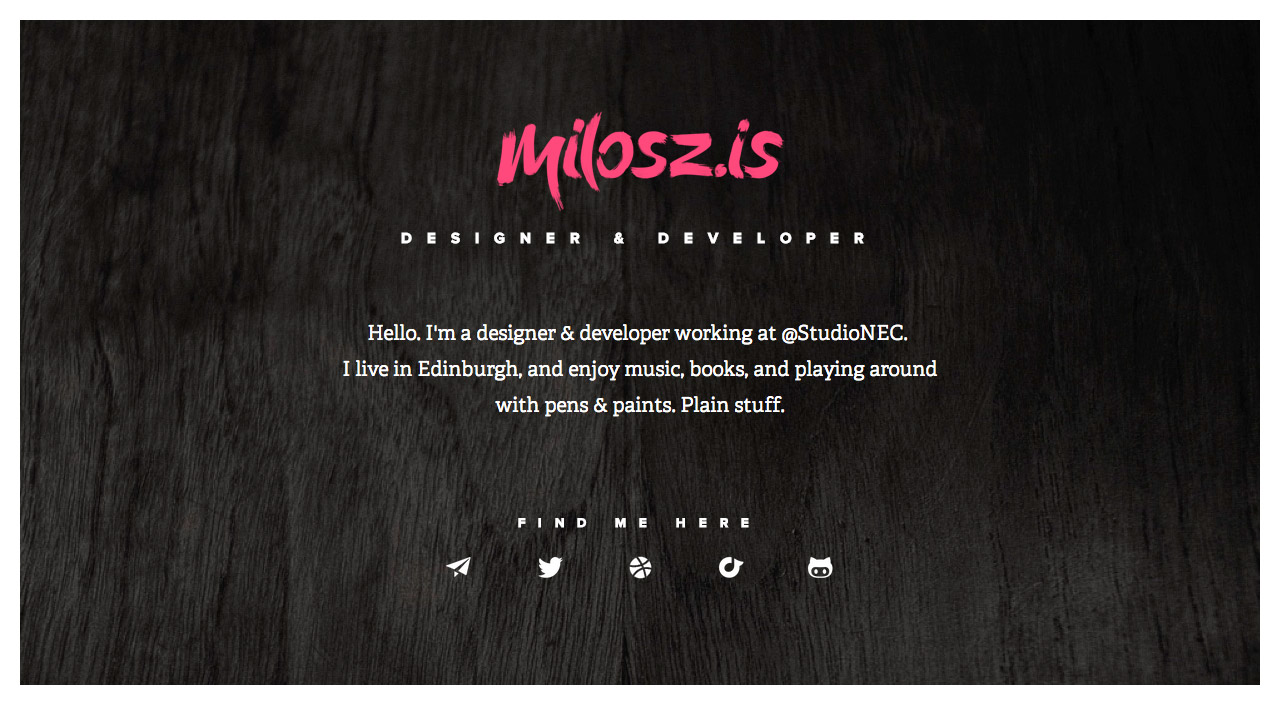 Milosz Falinski Website Screenshot
