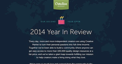 Creative Market 2014 Year In Review Thumbnail Preview