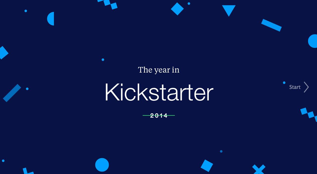 The Year in Kickstarter 2014 Website Screenshot
