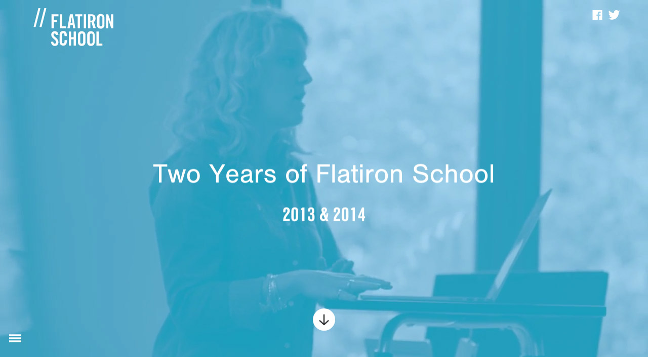 Flatiron School Annual Report Website Screenshot