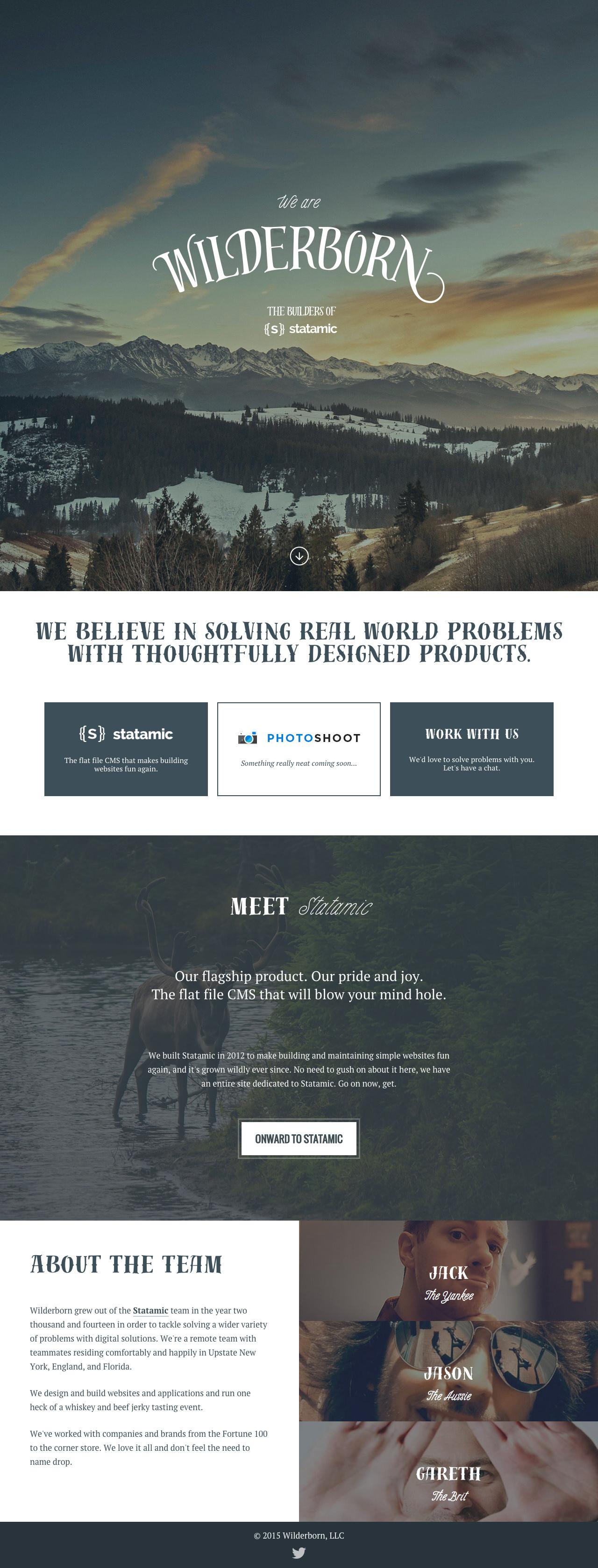Wilderborn Website Screenshot