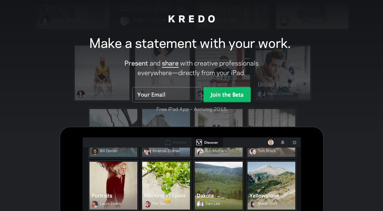 Kredo Website Screenshot