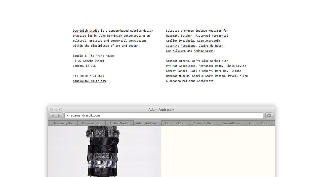 Dow-Smith Studio Website Screenshot