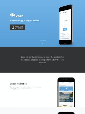 Zazn Meditation App Thumbnail Preview