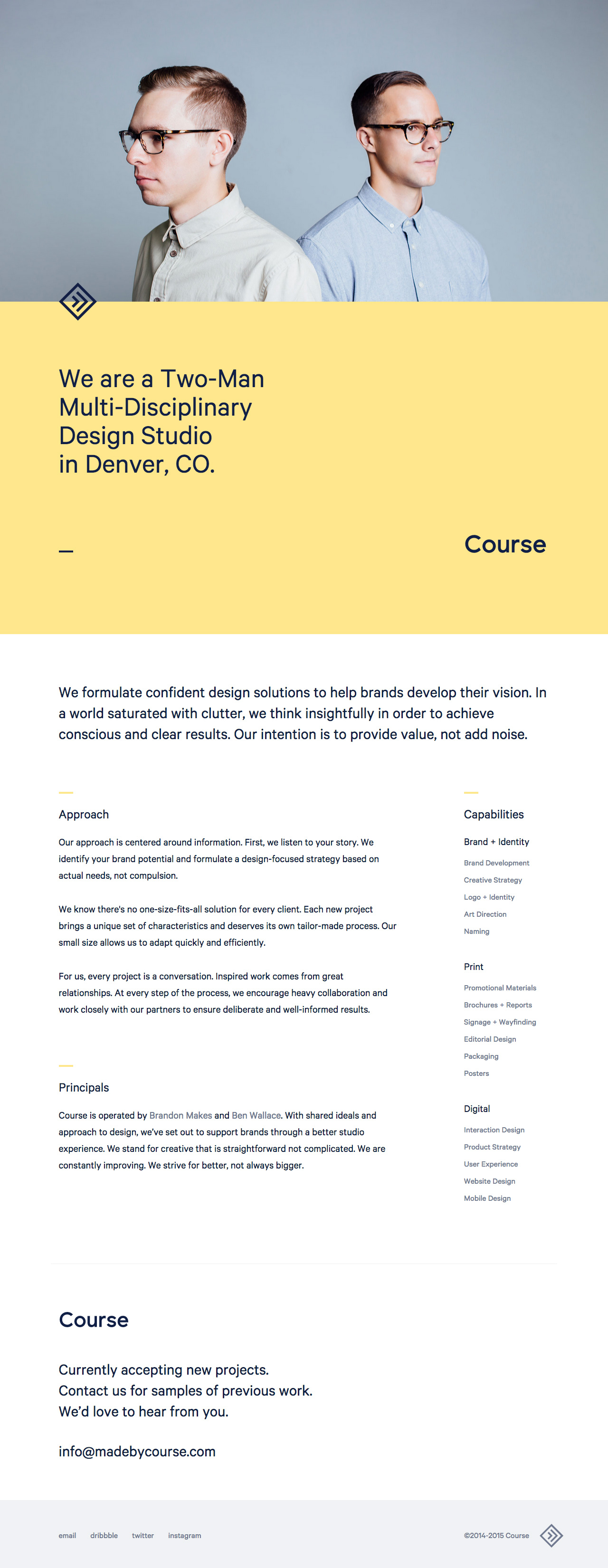 Course Website Screenshot