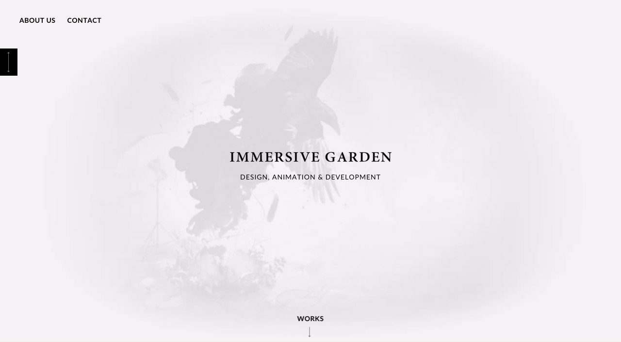 Immersive Garden Website Screenshot