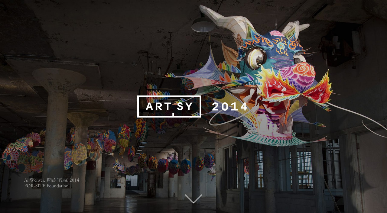 Artsy 2014: A Year in Review Website Screenshot