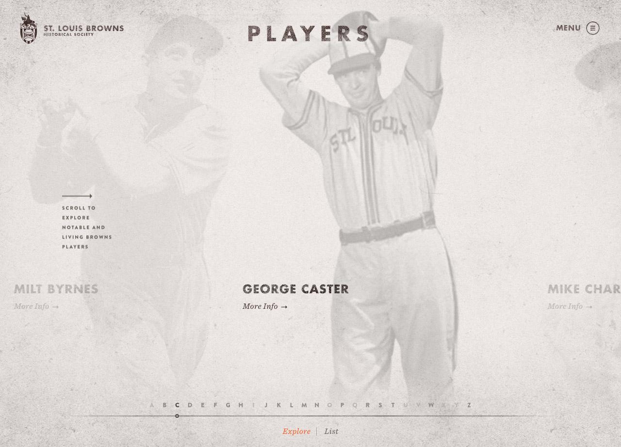 St. Louis Browns Historical Society Website Screenshot