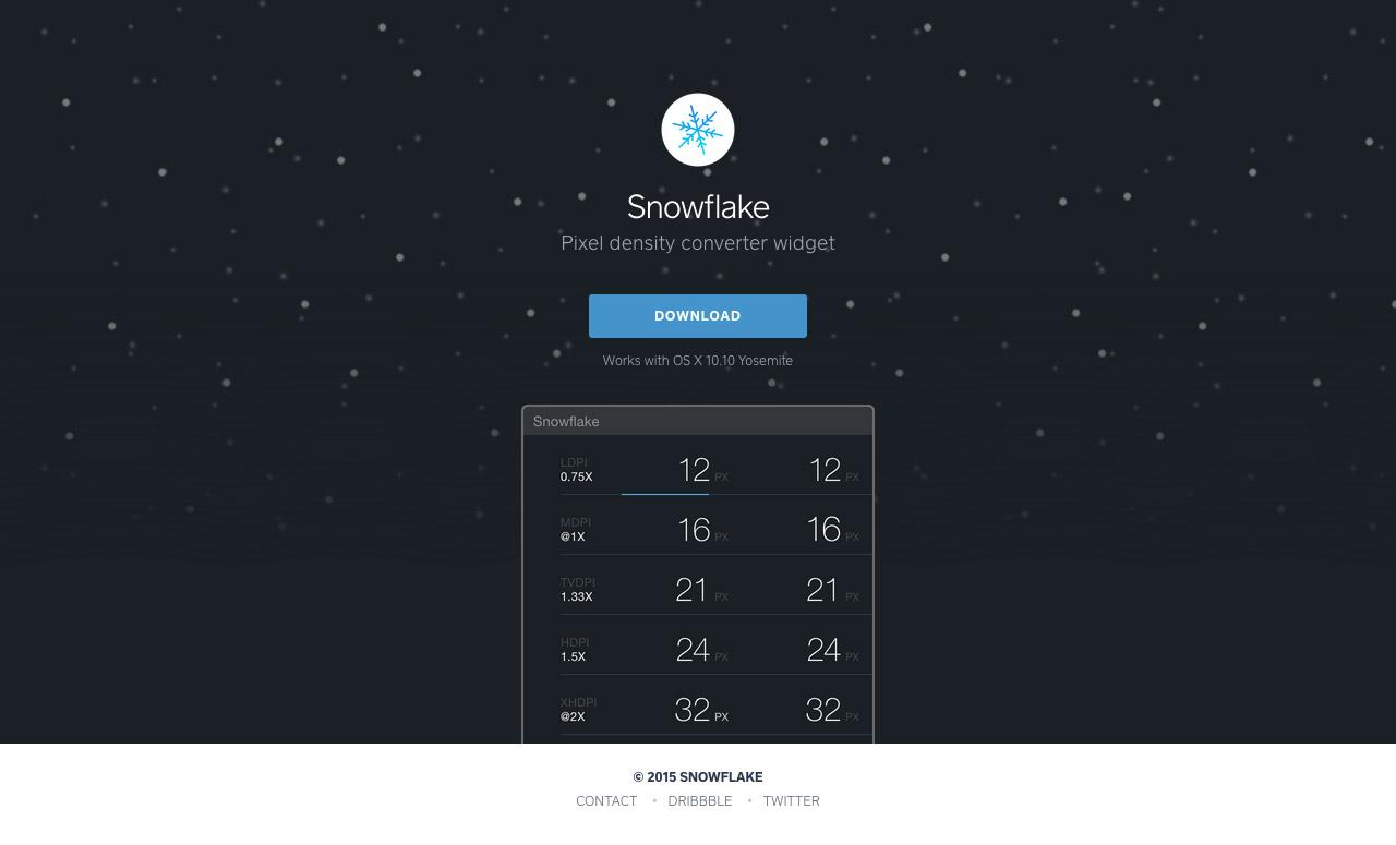 Snowflake Website Screenshot