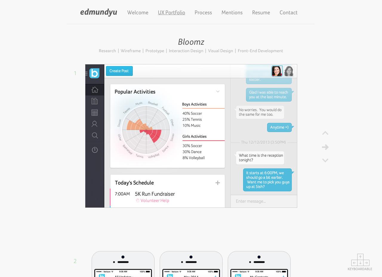 Edmund Yu Website Screenshot