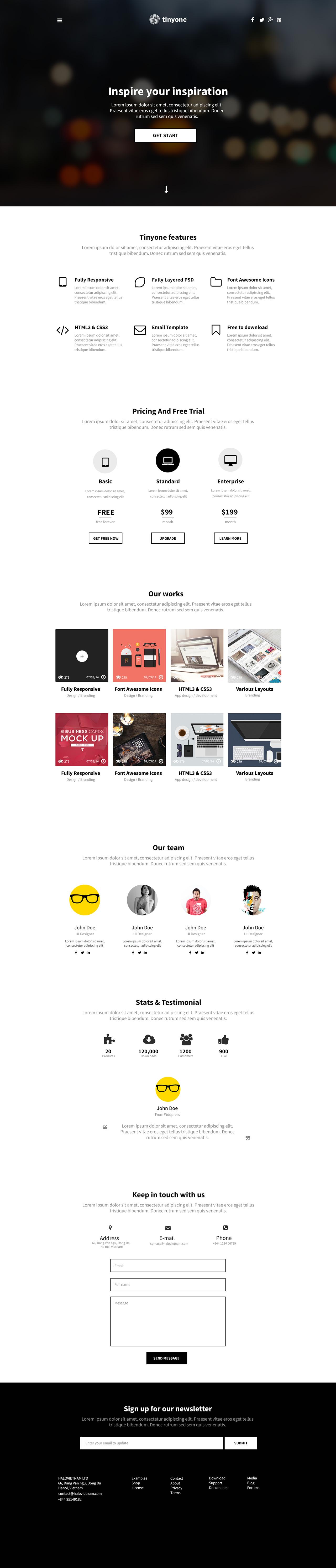 Tinyone Website Screenshot