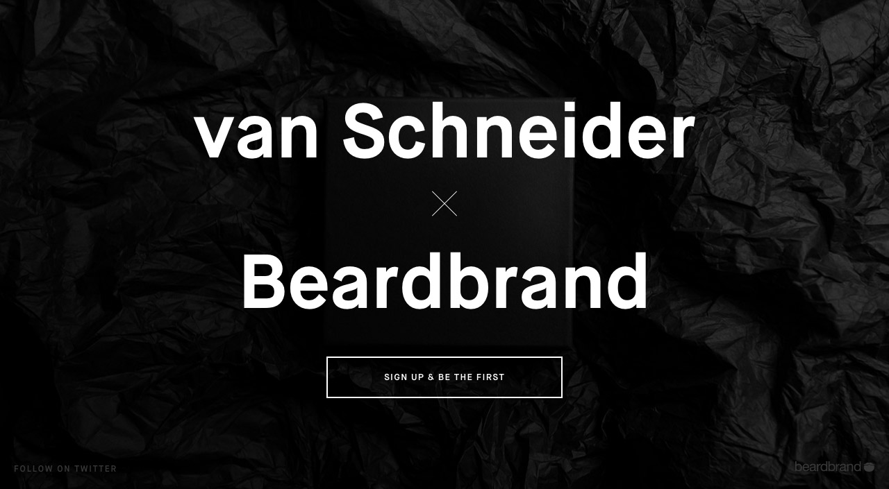 van Schneider x  Beardbrand Website Screenshot
