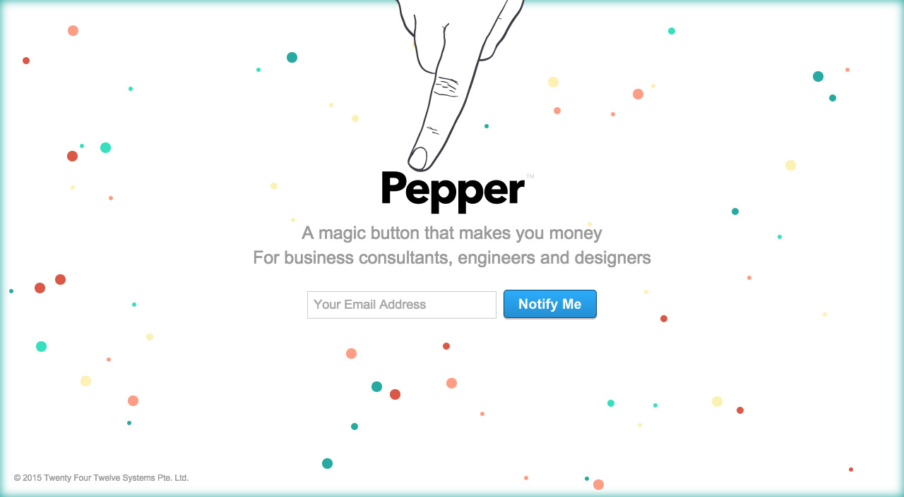 Pepper Website Screenshot