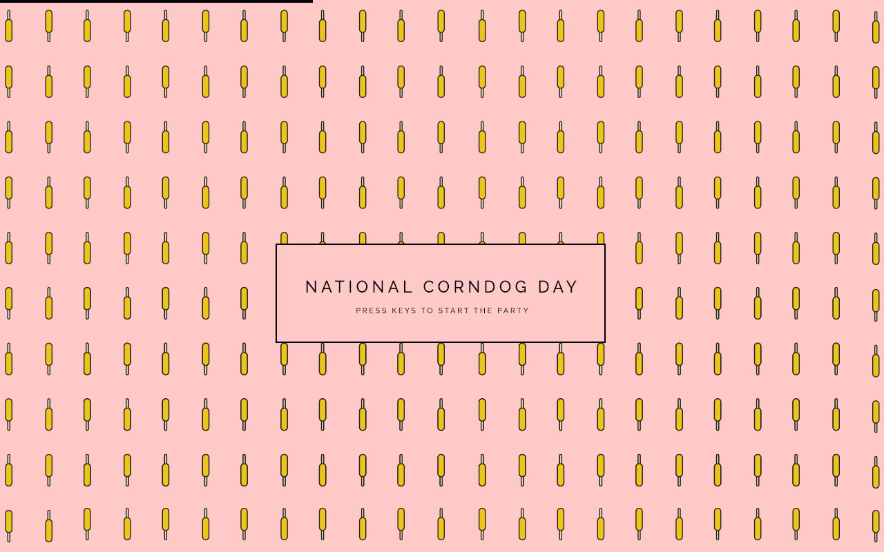 National Corndog Day Website Screenshot