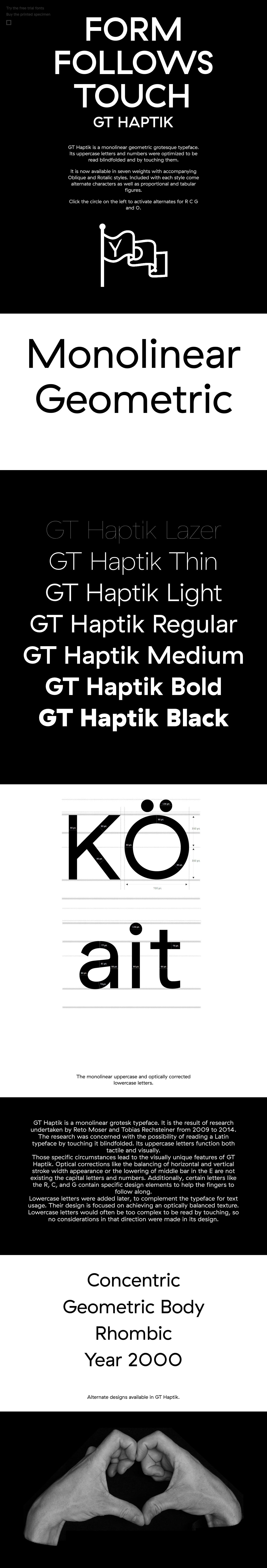 GT Haptik Typeface Website Screenshot