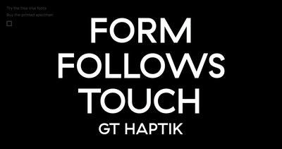 GT Haptik Font Thumbnail Preview