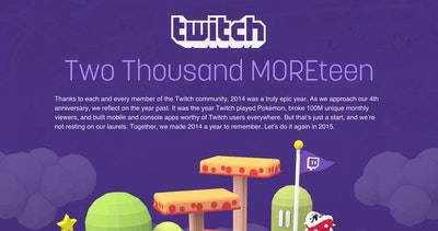 2014 Retrospective – Twitch Thumbnail Preview