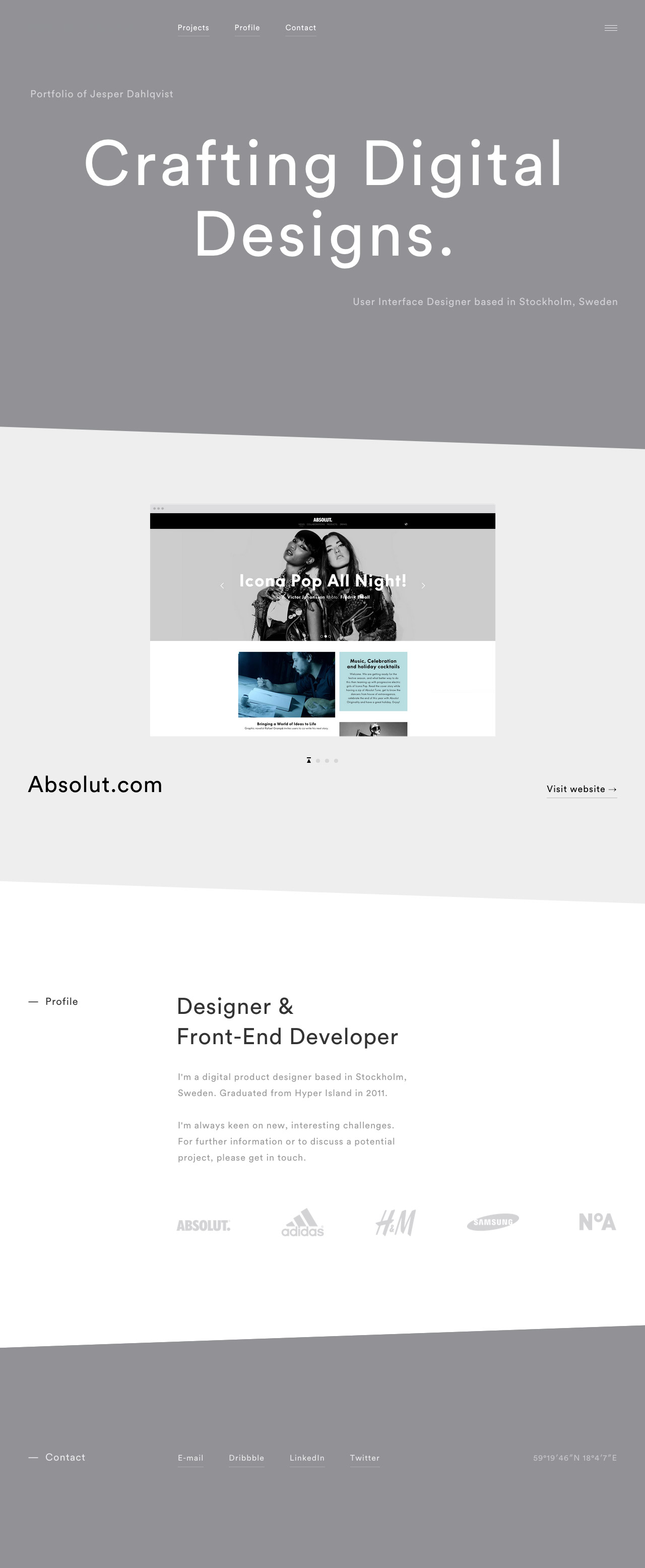 Jesper Dahlqvist Website Screenshot