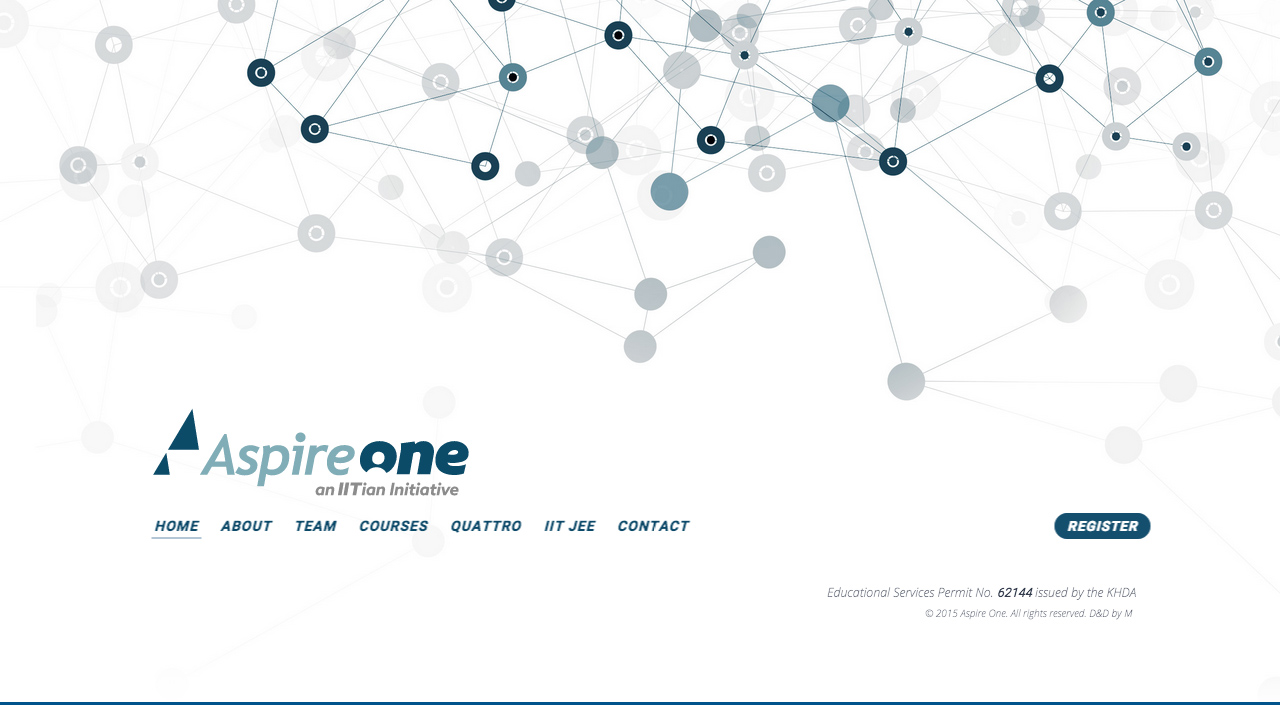 AspireOne Website Screenshot