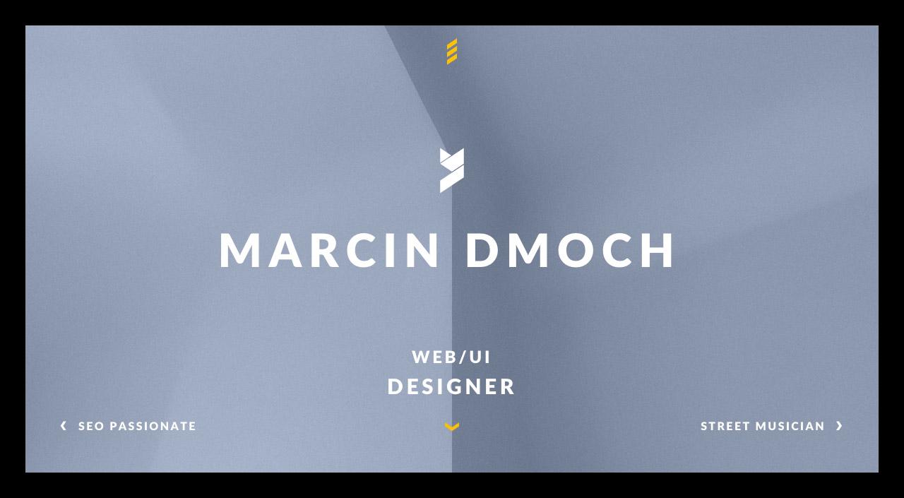 Marcin Dmoch Website Screenshot