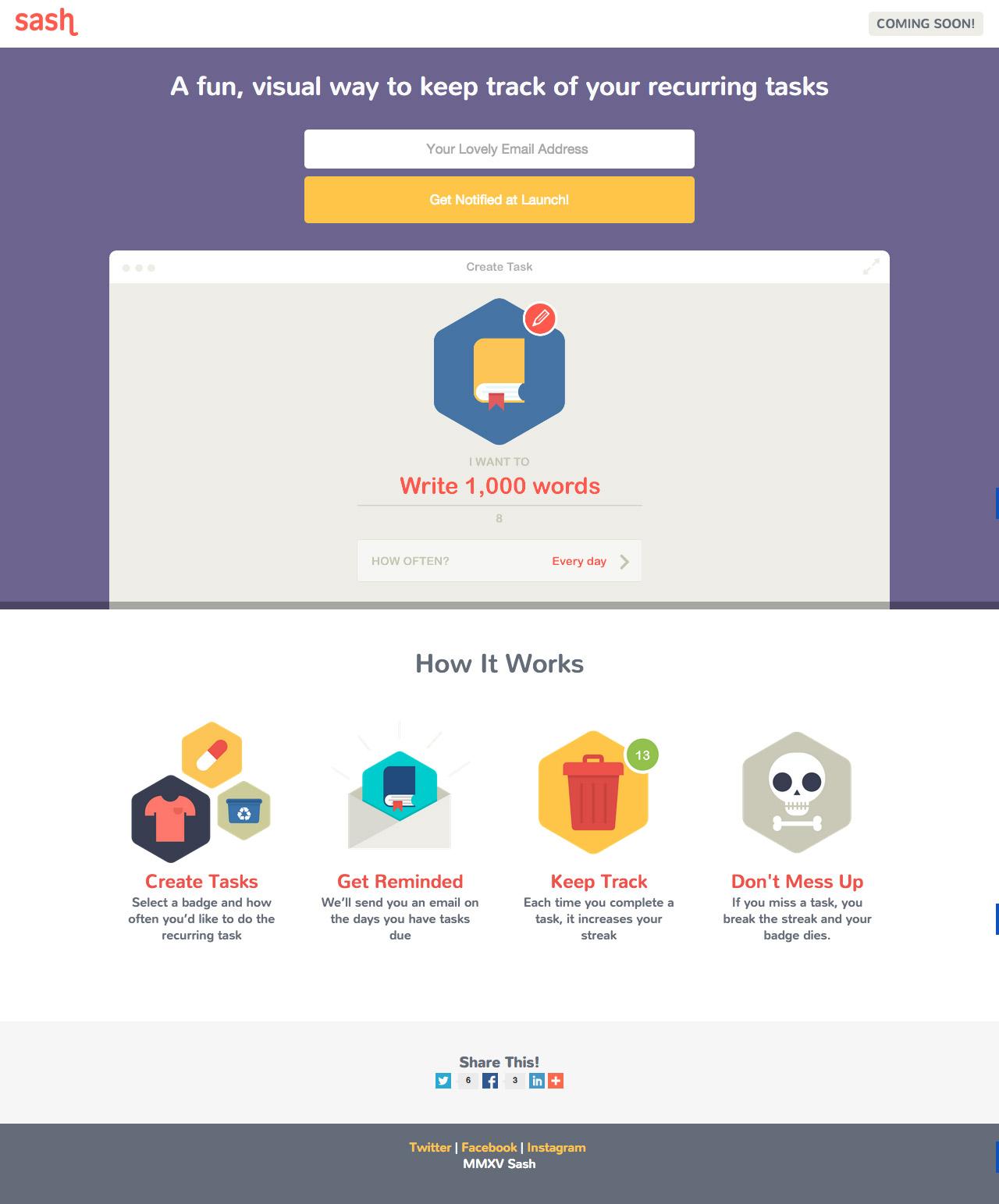 Sash Website Screenshot