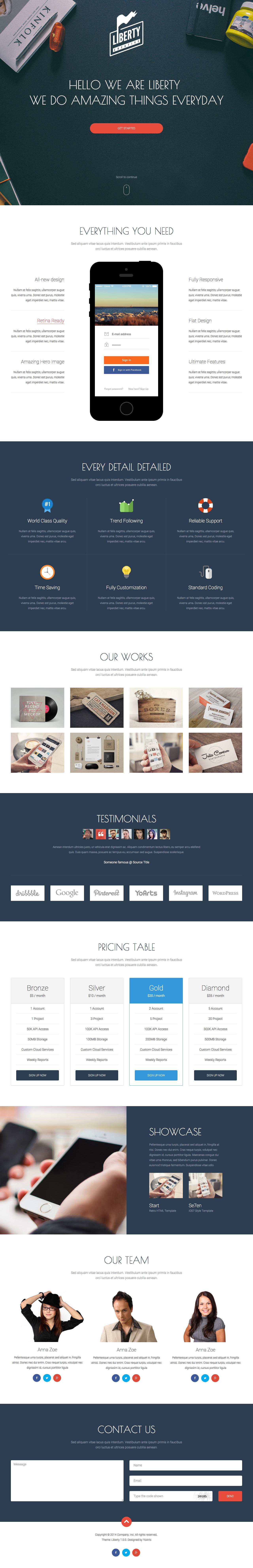 Liberty Website Screenshot