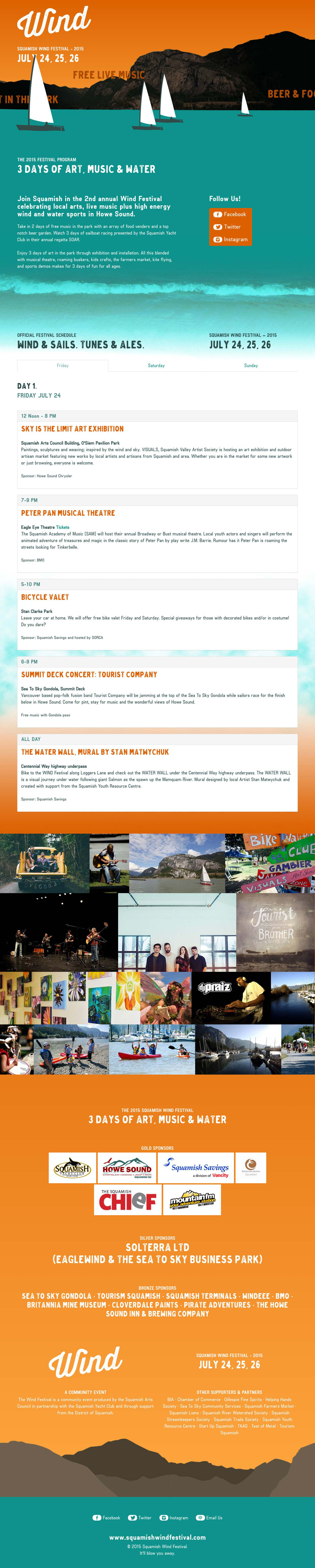 Squamish Wind Festival Website Screenshot