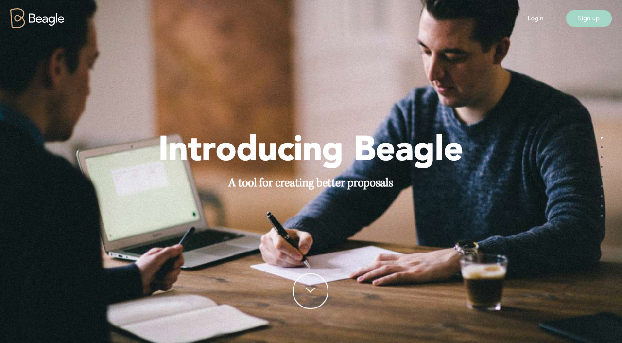 Beagle Website Screenshot