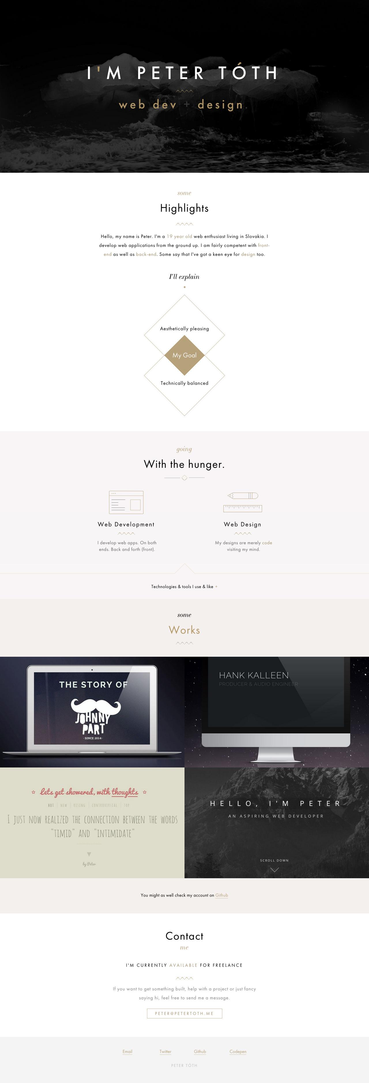 Peter Tóth Website Screenshot