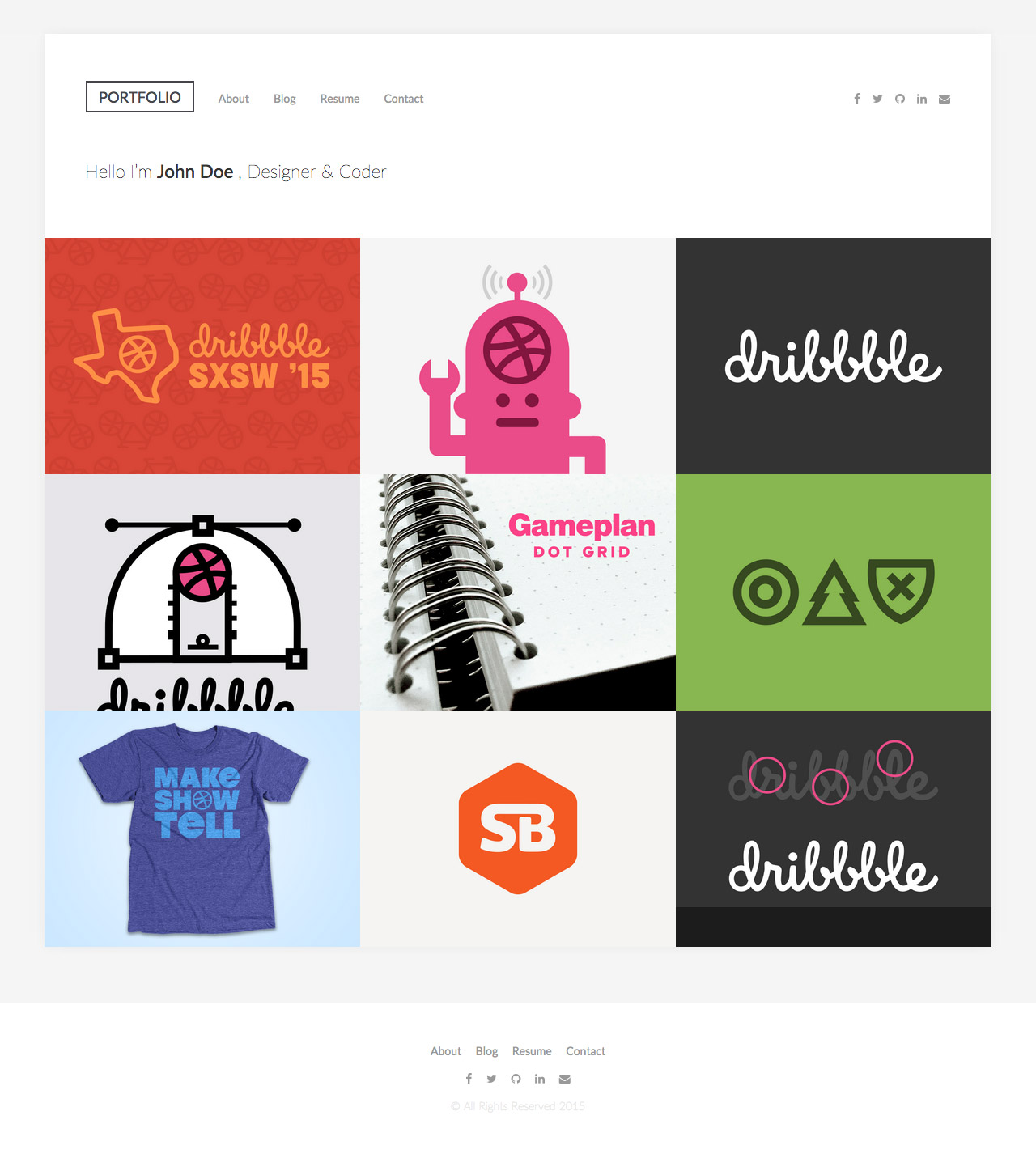 DribbbleFolio Website Screenshot