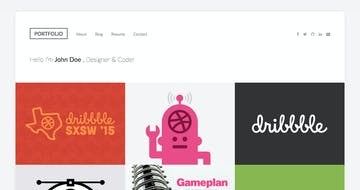 DribbbleFolio Thumbnail Preview