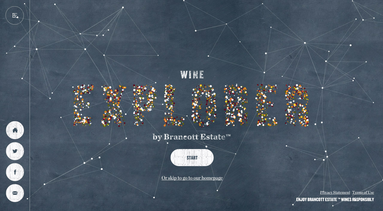 Brancott Estate Wine Explorer Website Screenshot