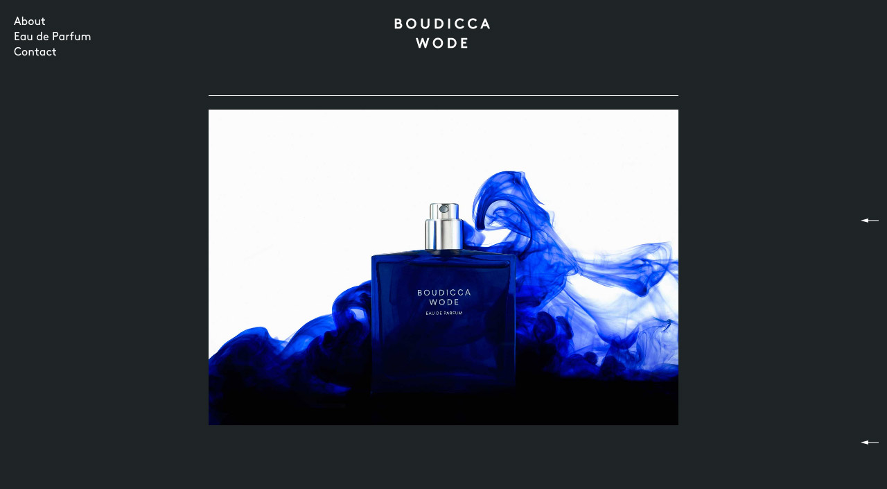 Boudicca Wode Website Screenshot