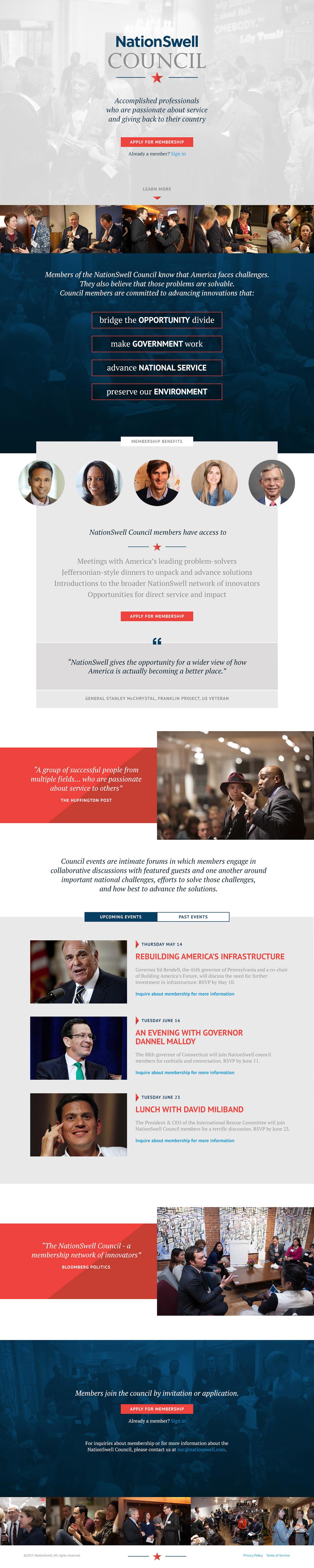 NationSwell Council Portal Website Screenshot