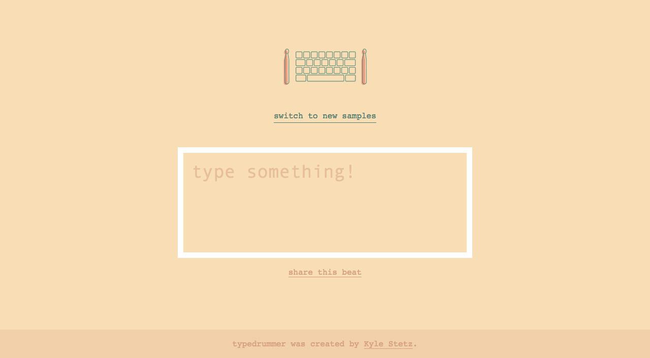 typedrummer Website Screenshot
