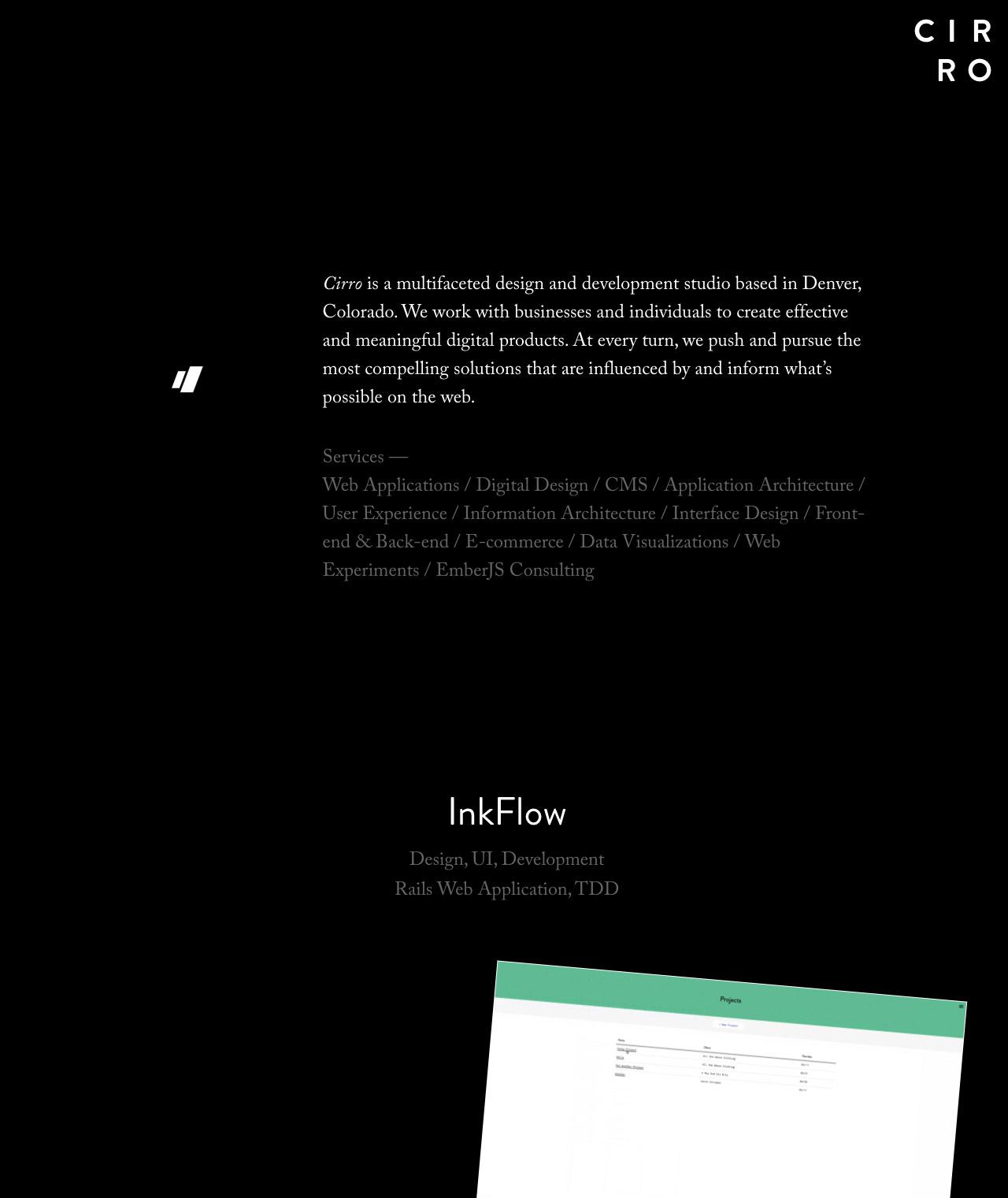 Cirro Website Screenshot