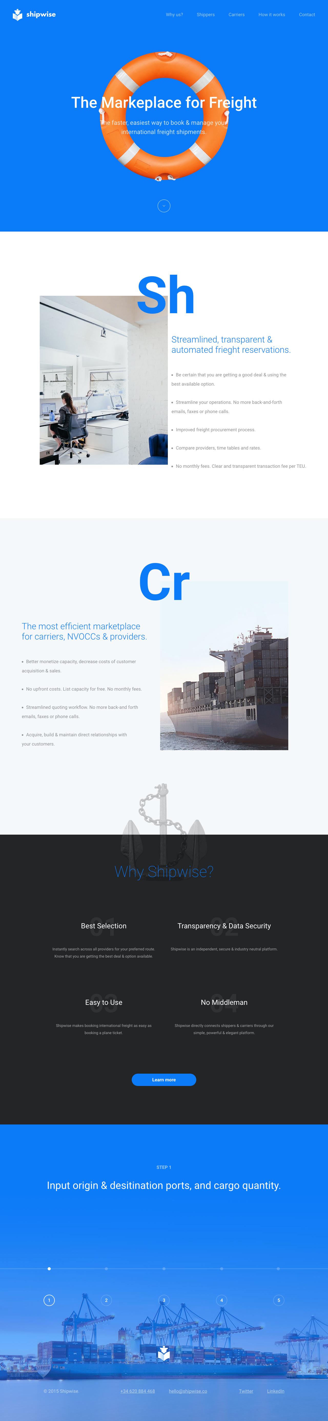 Shipwise Website Screenshot